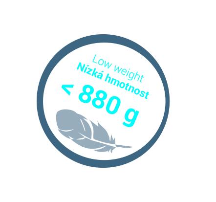 Nizká hmotnost 880g