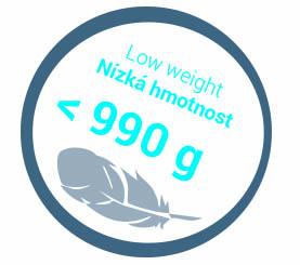 Nizká hmotnost 990g