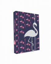 Box na sešity A4 Romantic Nature Flamingo