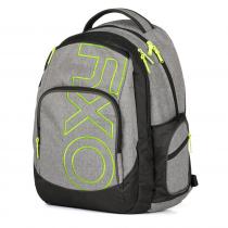 76578876131 Studentský batoh OXY Style GREY LINE Green