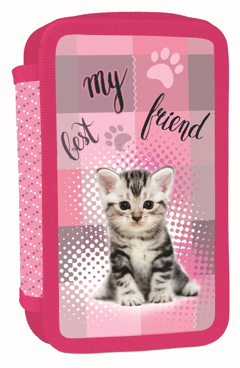 ... Školní potřeby · PENÁLY NENAPLNĚNÉ · Trojpatrové · Penál 3 p. prázdný  kočka Bez licence · Image bec1e1c612