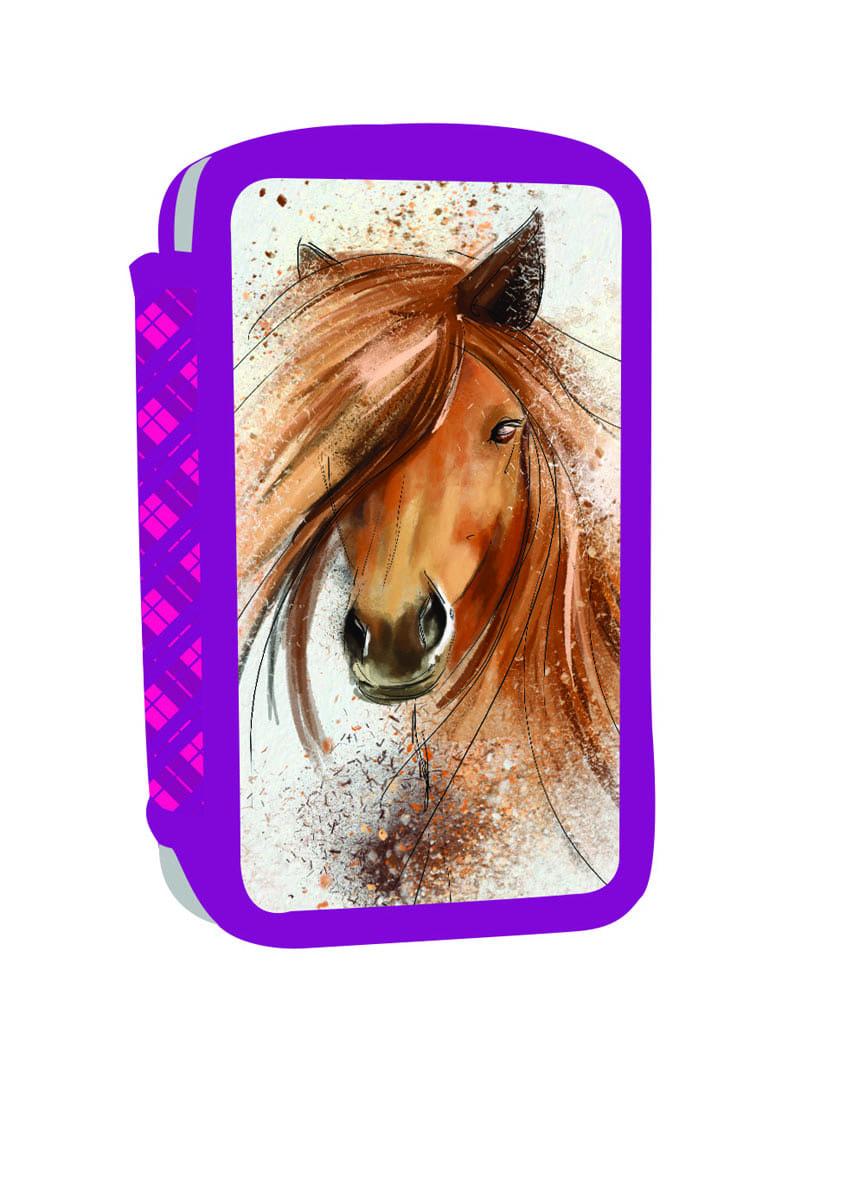 ... Školní potřeby · PENÁLY NENAPLNĚNÉ · Trojpatrové · Penál 3 p. prázdný  kůň Bez licence · Image 66cc2bc8c8