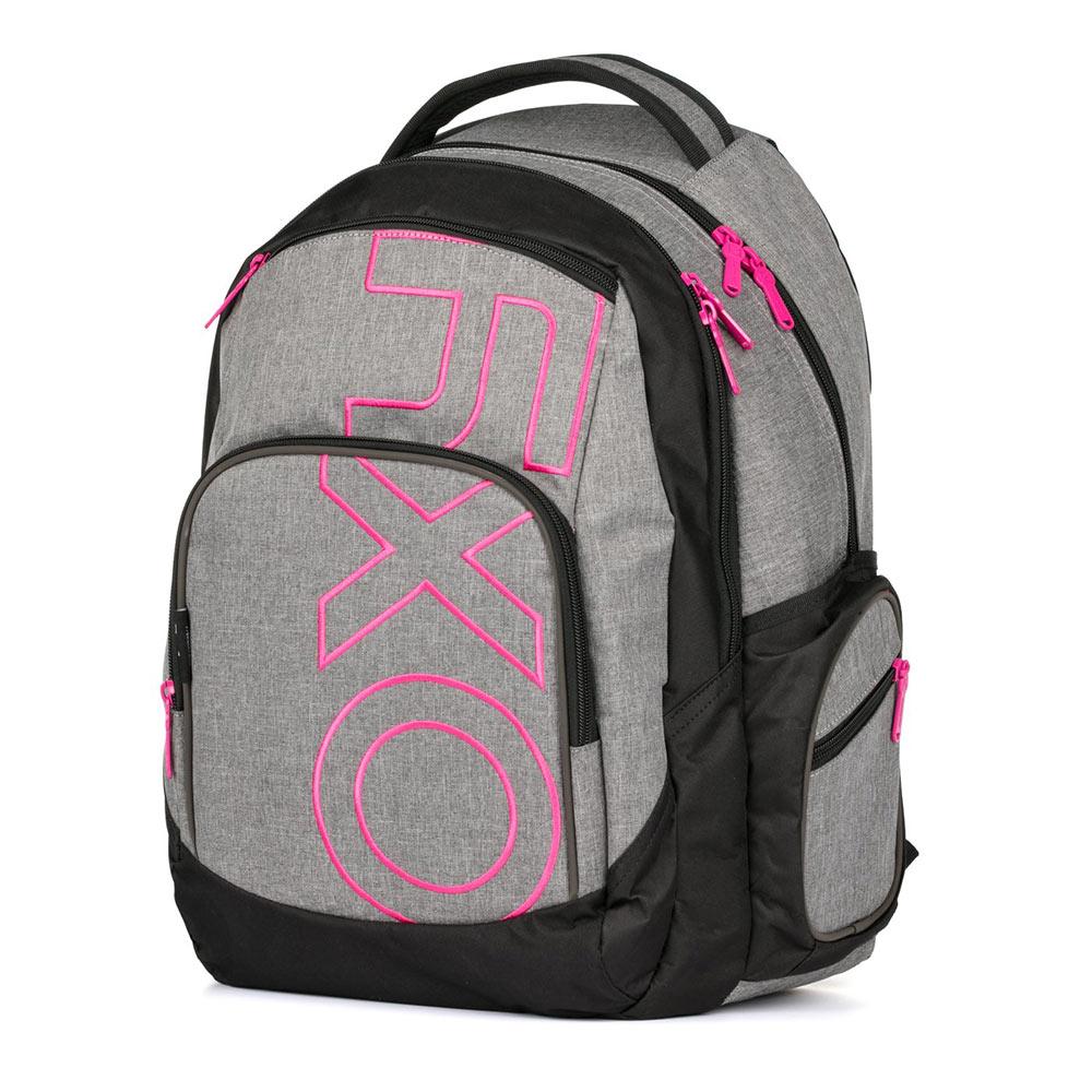 b7e0a19463b Studentský batoh OXY Style GREY LINE Pink - Školní potřeby » OXY ...