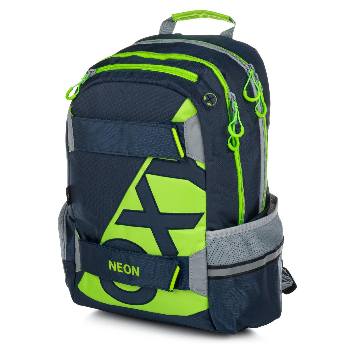 ... Studentský batoh OXY Sport NEON LINE Dark Blue Bez licence · Image 4c151db243