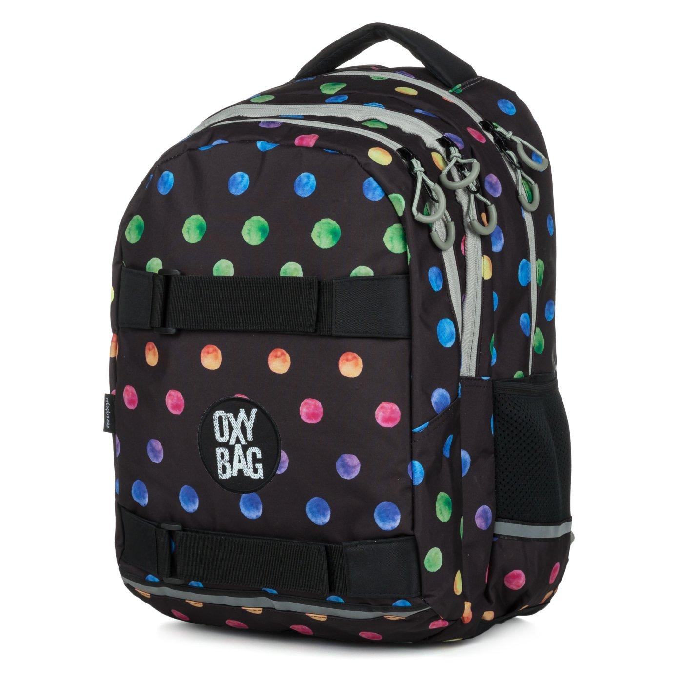 5f9c3279f8b Studentský batoh OXY One Dots colors